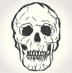 Skull grunge illustration vector