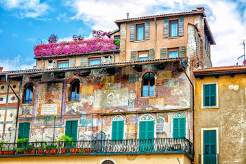 The famous Mazzanti house with murals.