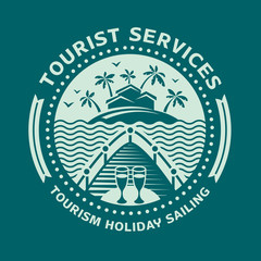 Logo emblem for tourism and recreation.