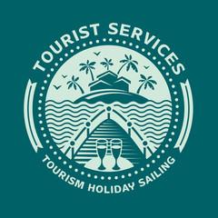 Logo emblem for tourism and recreation.