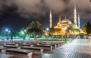 Hagia Sophiaat night from Sultanahmet Square, Istanbul