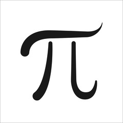 Pi symbol simple icon on background