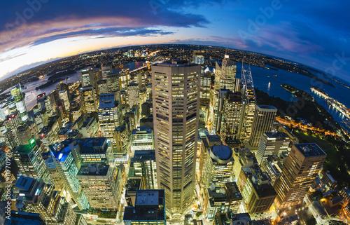Sydney CBD from at night