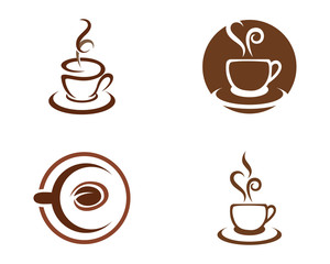 Coffee Icon Logo Template