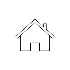 Home outline icon illustration