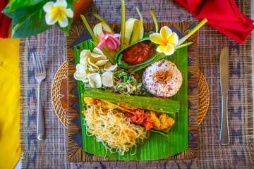 Indonesian traditional bali food