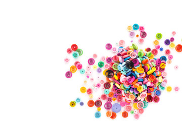 Paper quilling,colorful paper circles