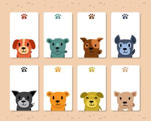 Cartoon dogs card template