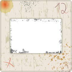 Wall Mural - grungy vintage photo slide, free copy space, vector illustration