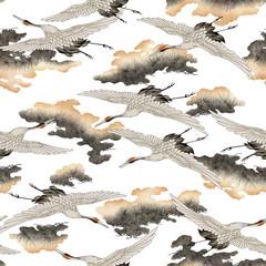 日本的な鶴パターン