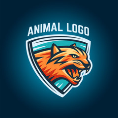 Animal logo on a white background