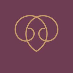 Gold monogram.