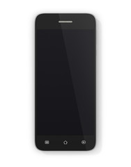Modern smartphone on white background. Generic mobile smart phon