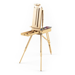 portable wooden  easels. 3D rendering