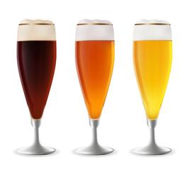 Glass of beer vector.