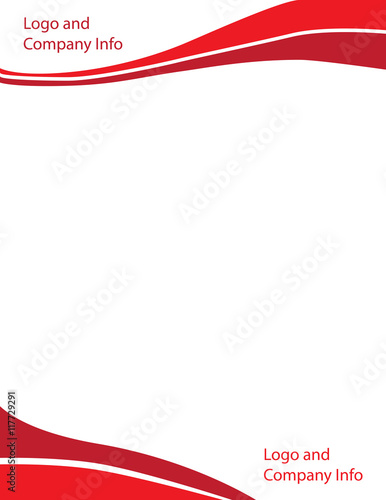 Quot Red Swirl Wave Letterhead Template Quot Stock Image And