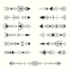 Geometric tribal arrows collection