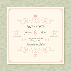 Ornamental wedding card