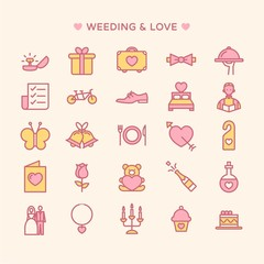 Wedding icons collection