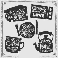 Retro cooking badges