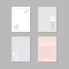Wedding cards. Vector