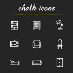 House furniture icons set