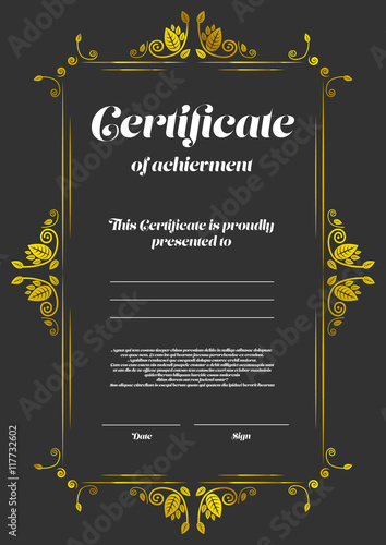 Certificate of appearance template stock image and for Certificate of appearance template