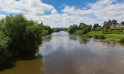 River Wye in Ross-on-Wye Herefordshire England uk on the edge of the Forest of Dean