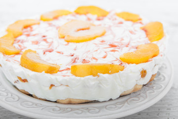 Peach and yogurt cake