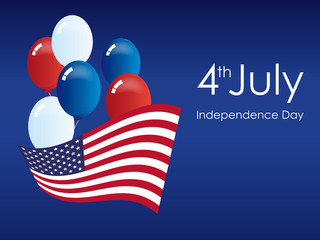 America Independence Day. Independence Day USA. Festive vector illustration. Important day