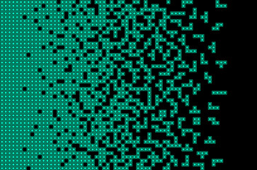 Tetris game Pixel abstract mosaic background