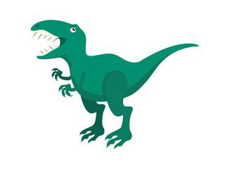 Cartoon character Tyrannosaurus rex. T-rex vector. Dinosaur on a white background