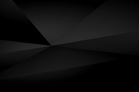 Black polygonal triangular mosaic background for web, presentations and prints. Vector illustration
