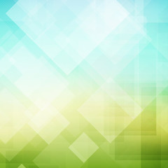 Abstract green light geometric background. Vector illustration