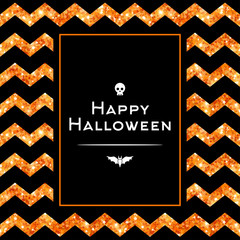 Happy Halloween Greeting Card with Square Frame