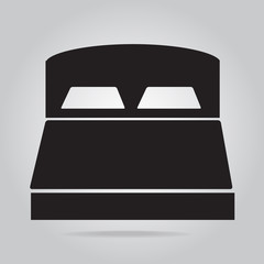 Bed icon sign vector