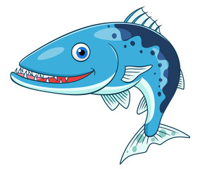 Cartoon barracuda