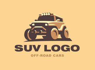 SUV logo car emblem, color version
