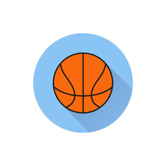 basketball ball outline in white background.