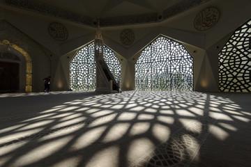 Istanbul'da modern mimari ile yapılmış camii