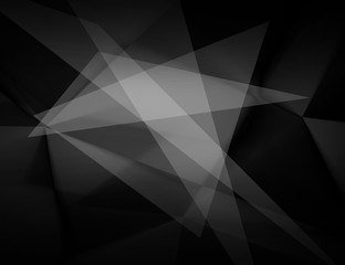 Abstract black and white polygonal background