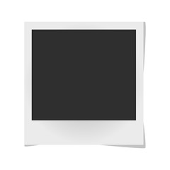 Realistic vector photo frame isolated on white. Template retro photo design, Vector illustration