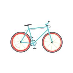 Bicycle isolated vector illustration, flat cartoon bike on white background