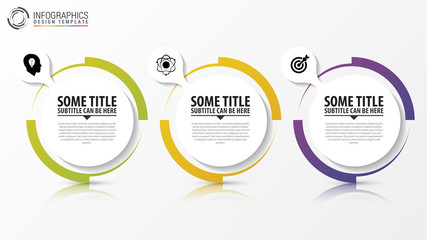 Circle infographic. Template for diagram. Vector