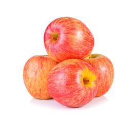 Gala apple on white background