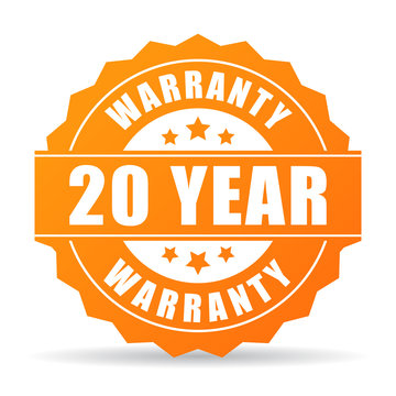20 year warranty icon