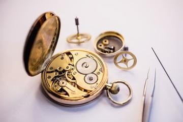 Pocket watch machine with gears