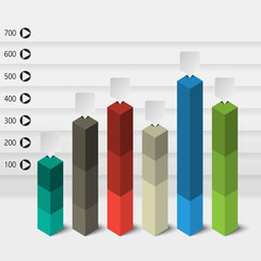 columns of data for the presentation / vector infographics