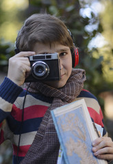 Young Taking Pictures During Holidays