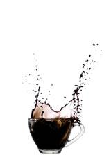 Coffee splash in Clear glass bowl